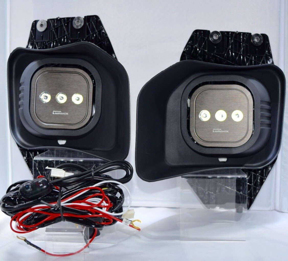 11-16 Ford F-250 Super Duty Clear LED Driving Lights Fog Lights Wiring & Switch Kit