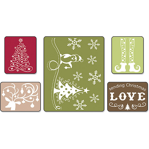 Sizzix Textured Impressions Embossing Folders, Sending Christmas Love