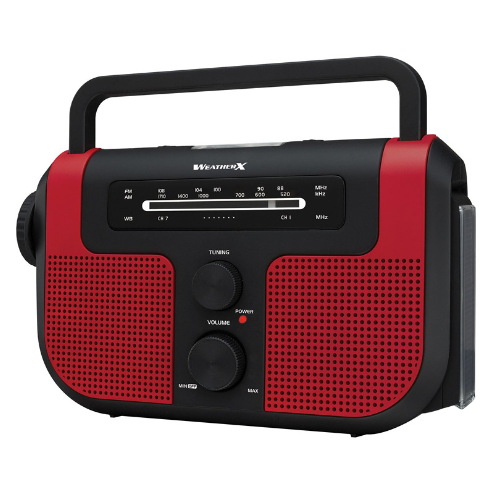 Weather-X Wr383r Weatherband AM/FM Radio with Flashlight