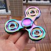 Rainbow EDC Hand Tri-Spinner Focus ADHD Autism Finger Adult Kid Desk Toy Gyro