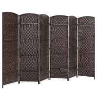Best Choice Products 6ft Tall 6-Panel Diamond Weave Folding Freestanding Room Divider Privacy Screen Accent - Dark Mocha