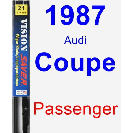 1987 Audi Coupe Passenger Wiper Blade - Vision Saver