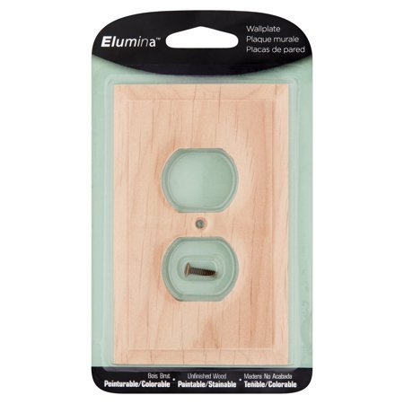 6 Pack Elumina Unfinished Wood Wallplate