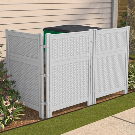 Suncast Reversible Outdoor Single Panel Screen (Suncast Classic 44 In Resin Screen Enclosure)