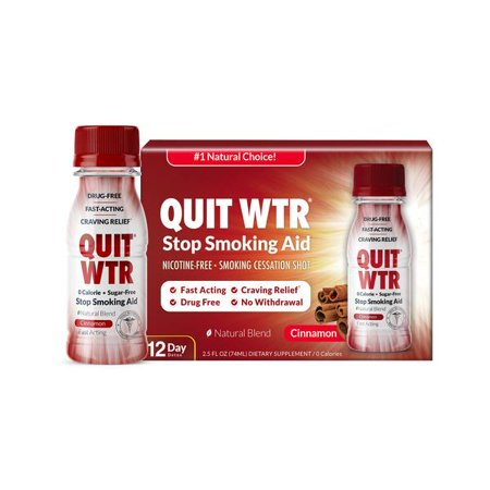 Quit WTR,Cinnamon,Nicotine-Free Smoking Cessation Detox