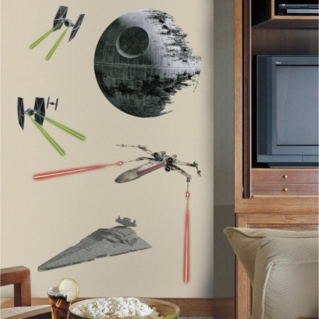 RoomMates Star Wars Classic Space Ships Peel and Stick Wall Graphic
