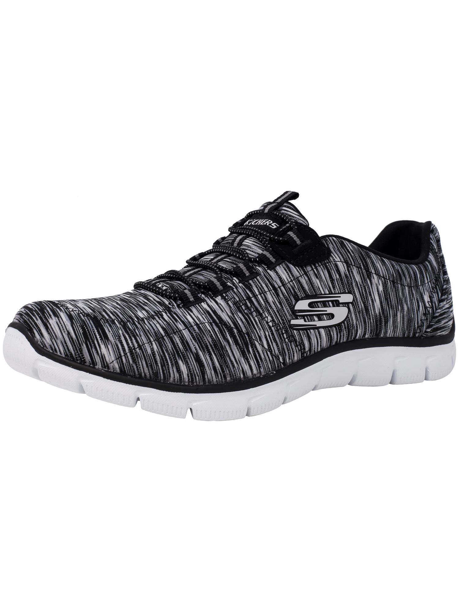 Skechers Women's Empire - Game Game Game On Black / White Ankle-High Fabric Training Shoes 10M e9e6cc