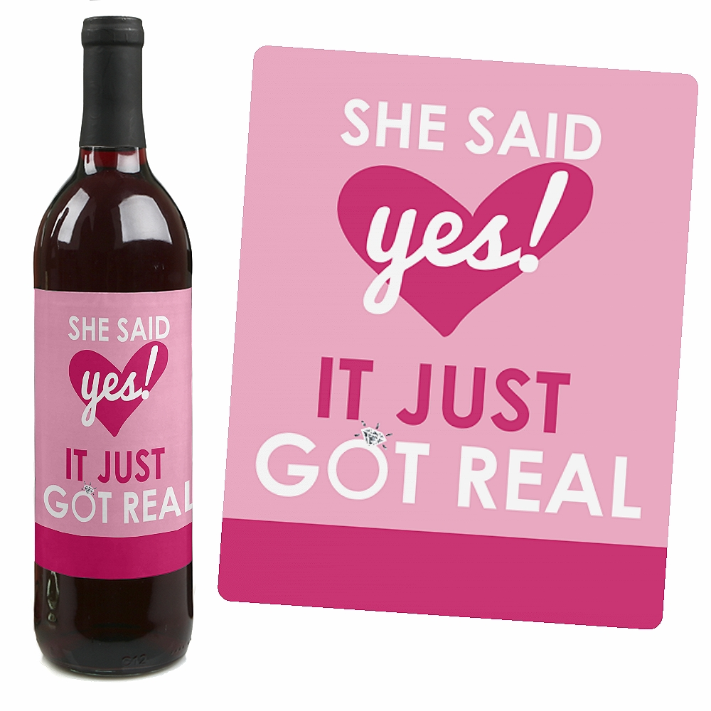 Bride-To-Be - Bridal Shower & Bachelorette Party Wine Bottle Labels ...