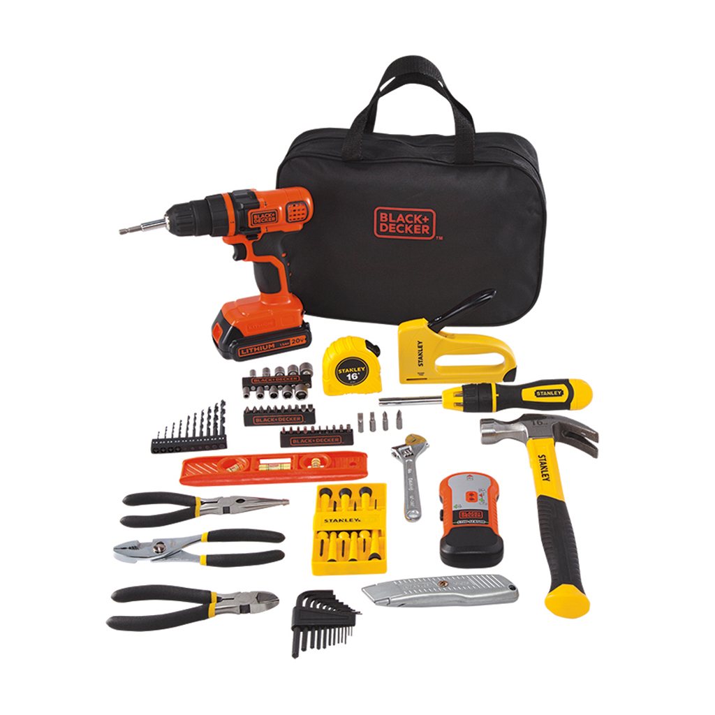 85-Piece BLACK+DECKER 20-Volt MAX Drill with Project Kit
