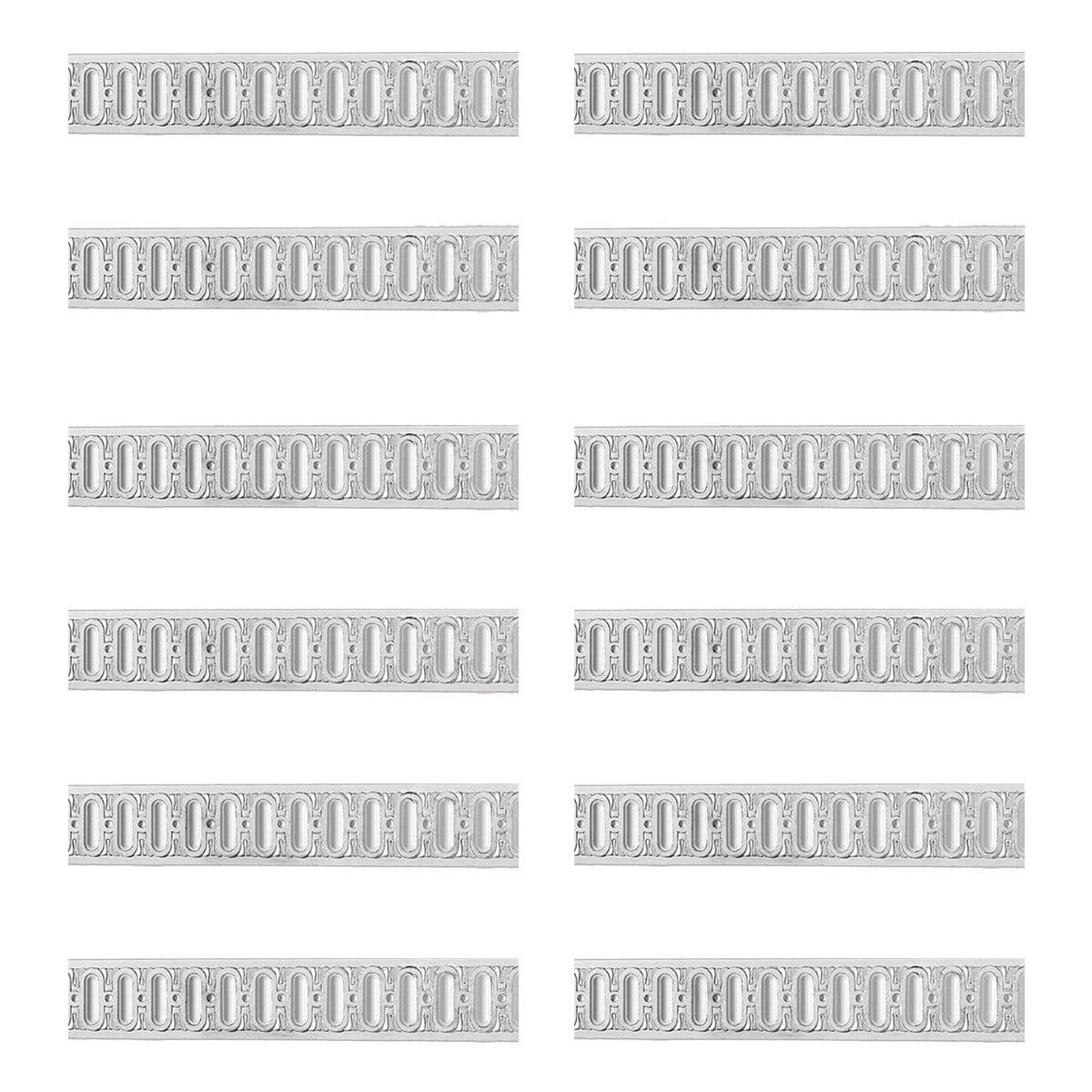 Chair Rail White Urethane Railing Design 12 Pieces