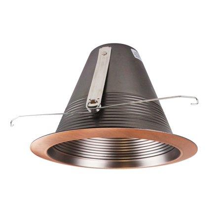 Bronze Baffle - NICOR Lighting 6-Inch Airtight Recessed Cone Baffle Trim, Bronze (17550ABZ)