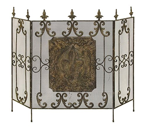 Deco 79 Metal Fire Screen, 54 by 41-Inch