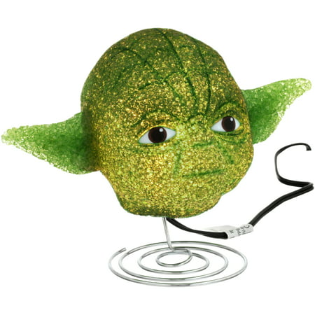 Eva Base - Star Wars Yoda EVA Lamp with Metal Base, Green, 6.75