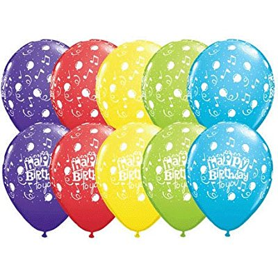 happy birthday to you music notes party supply 11 balloon latex (12) set