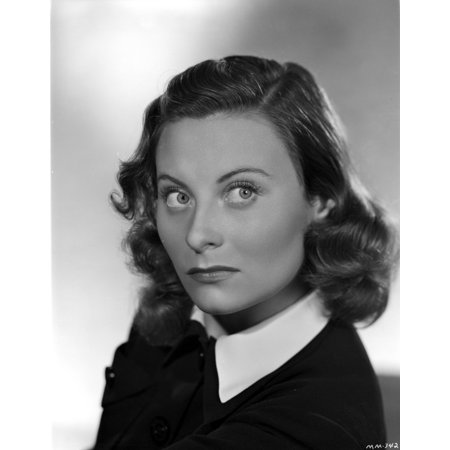 Morgan Portrait - Michele Morgan on a Collar Top Portrait Photo Print