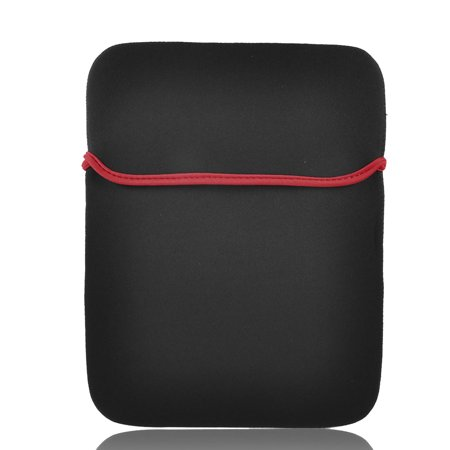 "Unique Bargains Neoprene Red Black 14"" Notebook Portable Sleeve Bag Cover Case"