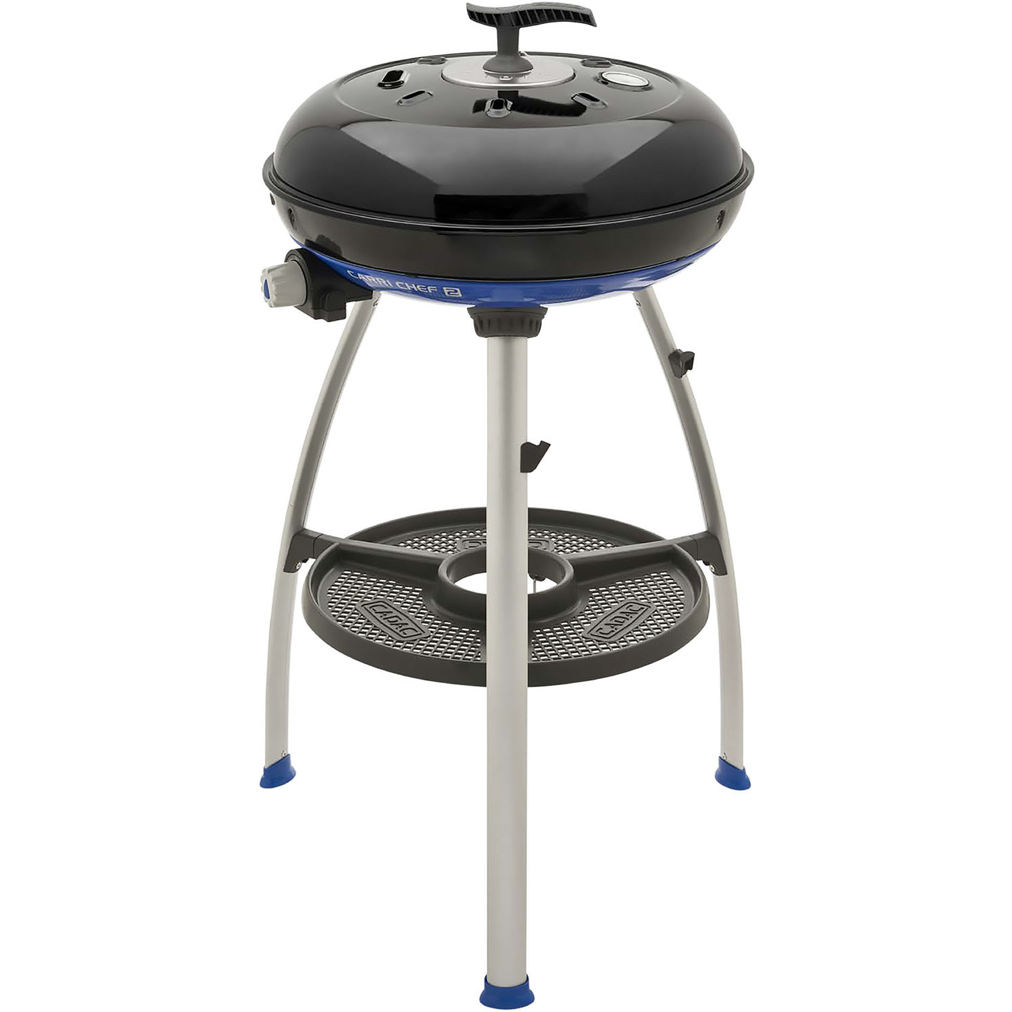 Cadac Carri Chef 2 Portable Grill with Pot Ring, Grill Plate, and Split Grill/Griddle Plate
