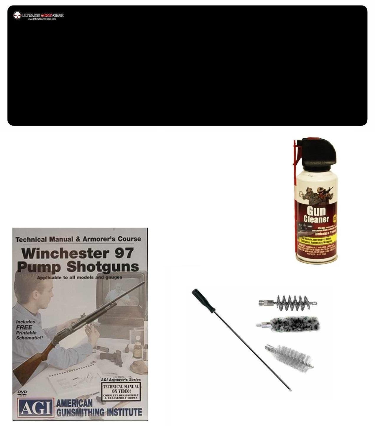 AGI DVD Manual & Armorer Course Winchester 97 Pump Shotgun + Ultimate Arms Gear Gunsmith & Armorer Cleaning Bench Gun... by