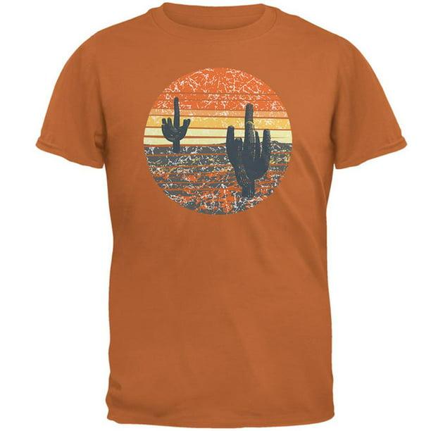 Vintage Cactus Sunset Mens T Shirt