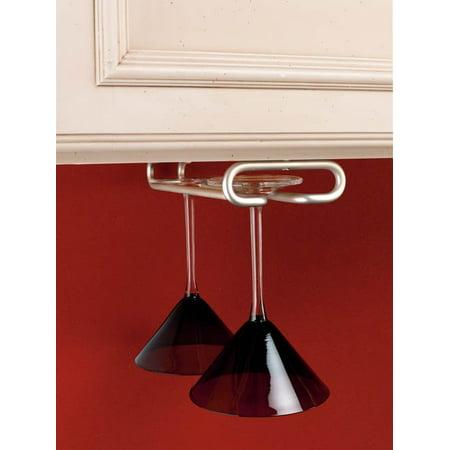 Rev-A-Shelf - 3150-11SN - 11 in. Satin Nickel Under Cabinet Wine Glass Holder