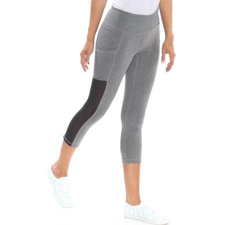 REEBOK Womens Gray Active Wear Leggings Size: XS