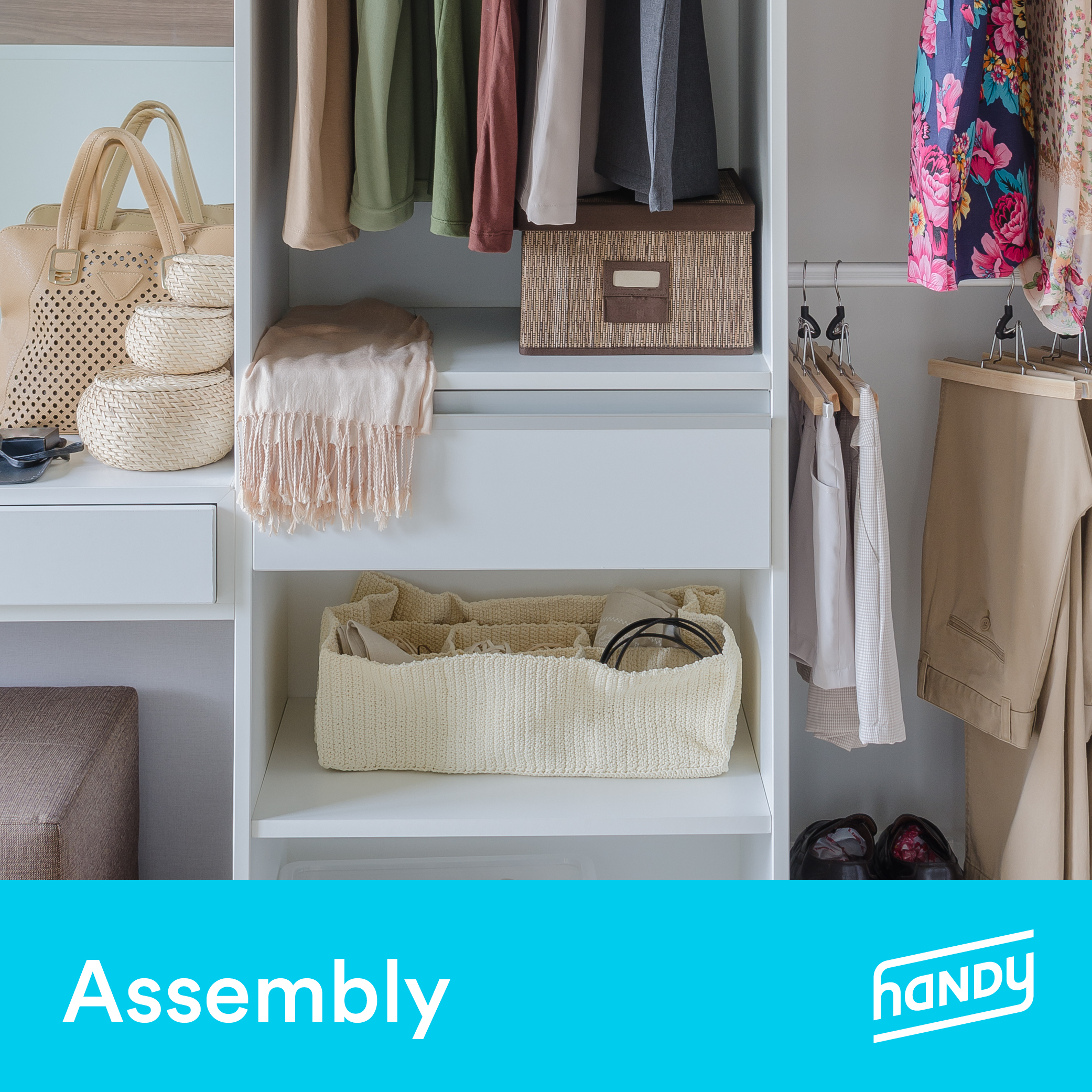 Closet Organizer Assembly by Handy