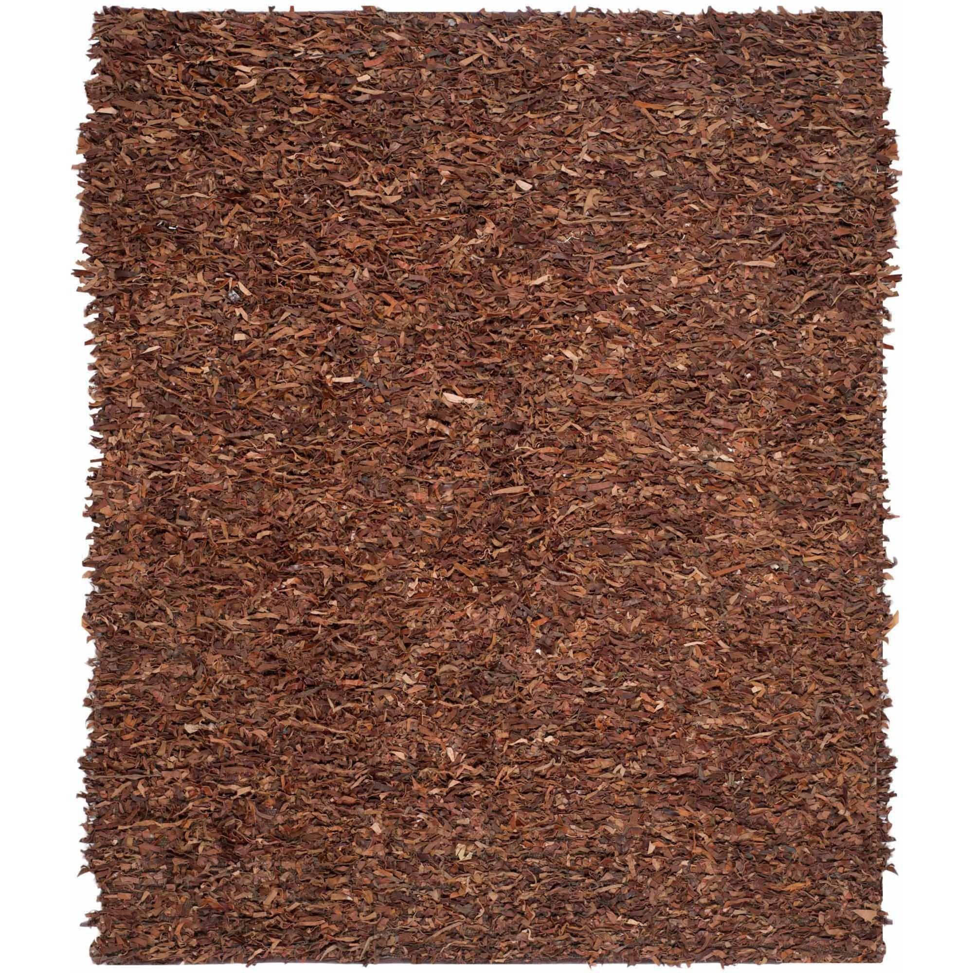 Safavieh Hand-Knotted Leather Shag Rug