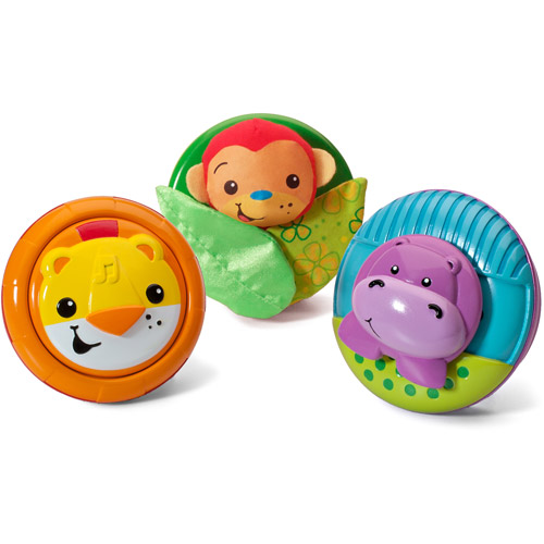Infantino Pop & Play 3-Piece Activity Pods, Jungle by Infantino