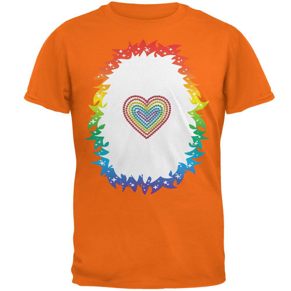 Halloween Rainbow Heart Unicorn Costume Pony Mens T Shirt