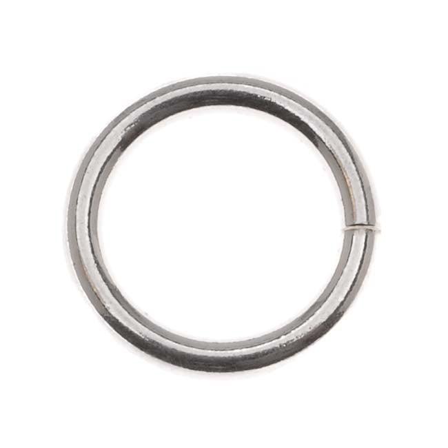 Sterling Silver Heavy 12mm Open Jump Rings 14 Gauge (2)