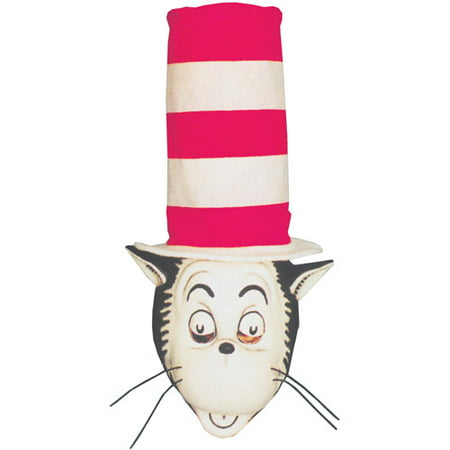 Cat in the Hat Mask and Hat Adult Halloween Accessory - Cheshire Cat Halloween Mask