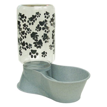 Lixit 30-0928-006 128 oz Large Dog Feeder And Water Front Reversable Base ()