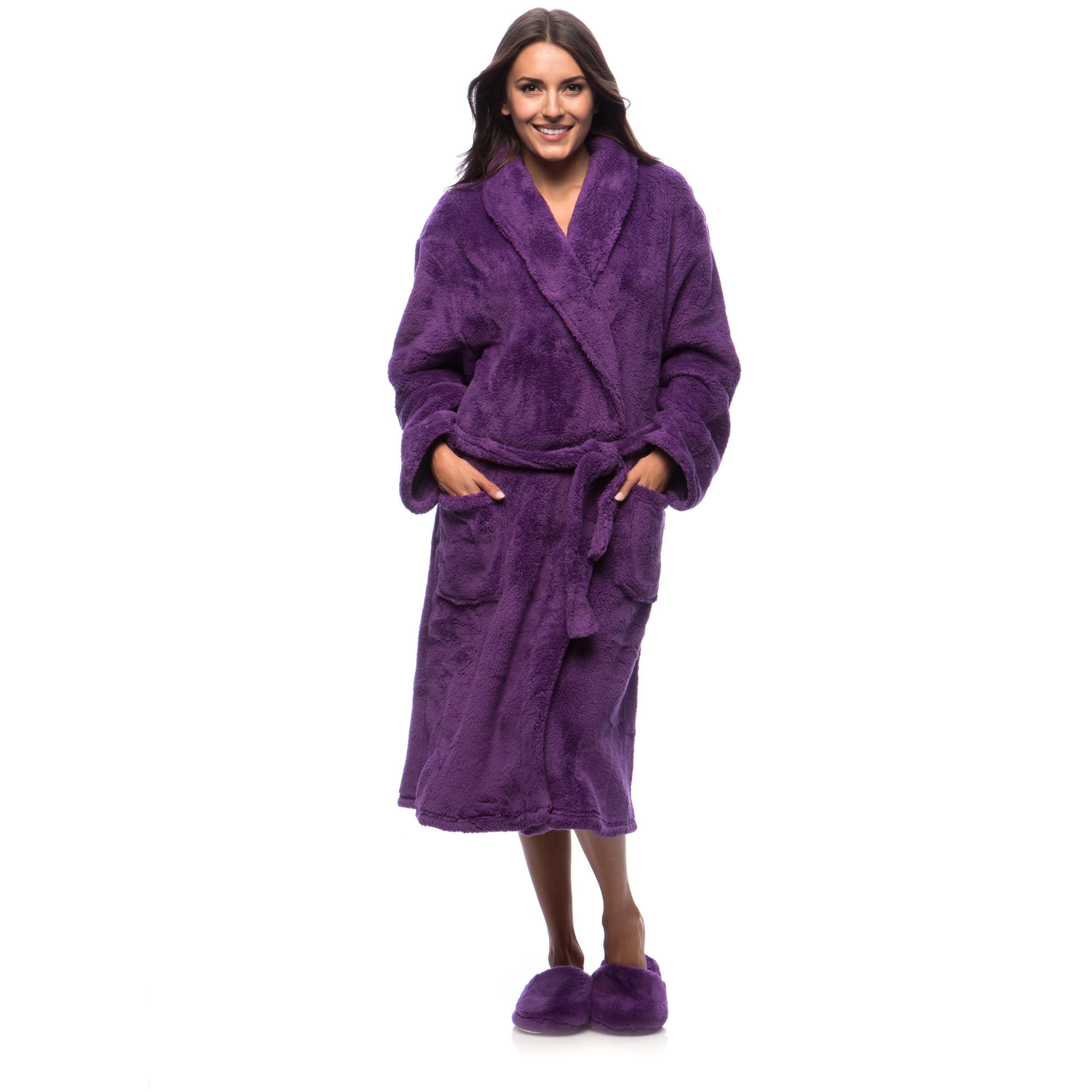 17f19ecd8b Cozy Fleece Ultrasoft Plush Bath Robe and Slipper Set - Walmart.com