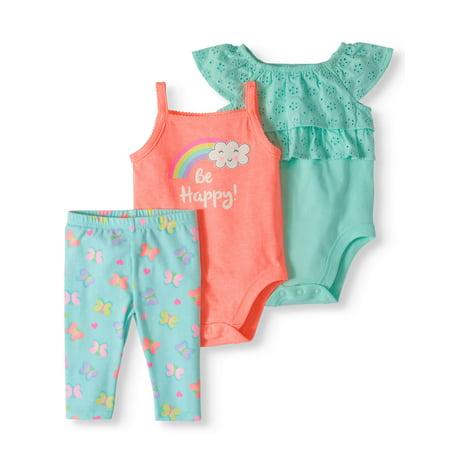 e8d45203f Garanimals - Garanimals Baby Girl Eyelet Bodysuit, Ta - Walmart.com