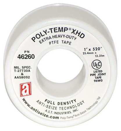Thread Sealant Tape,1 In. W, 520 in.L ANTI-SEIZE TECHNOLOGY 46260