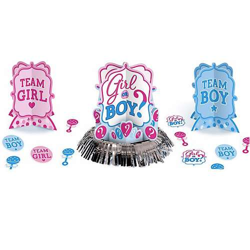 Baby Shower Gender Reveal 'Girl or Boy' Table Decorating Kit (23pc) (Halloween Gender Reveals)