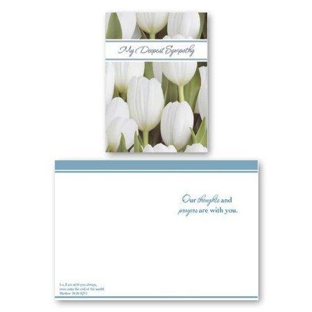 12 Pack Boxed Set Flower Sympathy Cards Bulk with KJV Scripture â?? Flowers Greeting Cards for Her for Him Floral 12 Flower Name Card