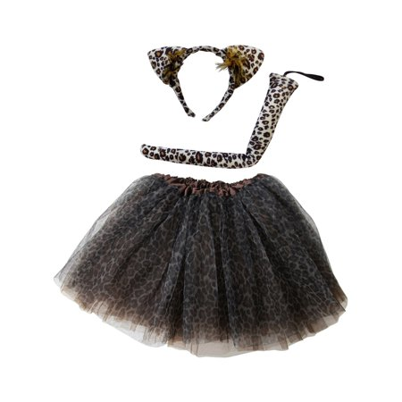 So Sydney Kids Teen Adult Plus 2-3 Pc Tutu Skirt, Ears, Tail Headband Costume Halloween Outfit](Duo Halloween Outfits)