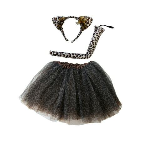So Sydney Kids Teen Adult Plus 2-3 Pc Tutu Skirt, Ears, Tail Headband Costume Halloween Outfit](Diy Halloween Costumes Head In A Jar)