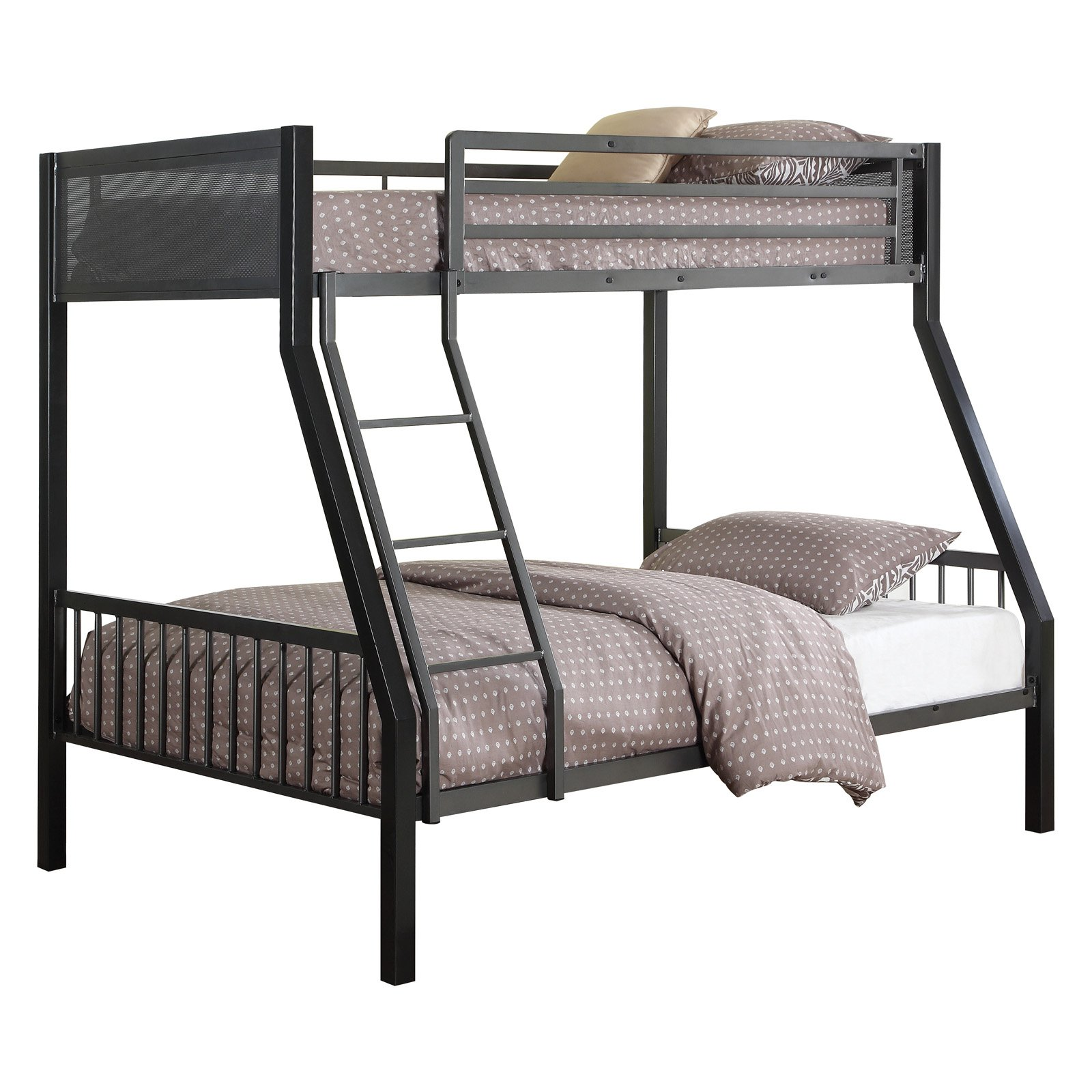 Coaster Meyers Bunk Bed, finished in two tones black/gunmetal