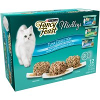 (12 Pack) Fancy Feast Medleys Tuna Recipe Collection Adult Wet Cat Food Variety Pack, 2.25 oz. Cans