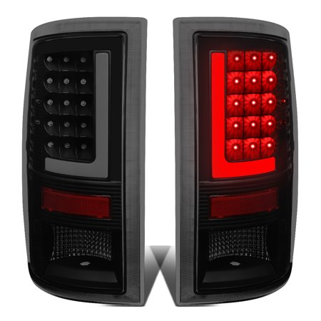 - For 09-17 Dodge Ram 1500/2500/3500 Pair of 3D LED Bar Tail Brake Lights (Black Housing Smoked Lens) 16 15 14 13 12 11 10