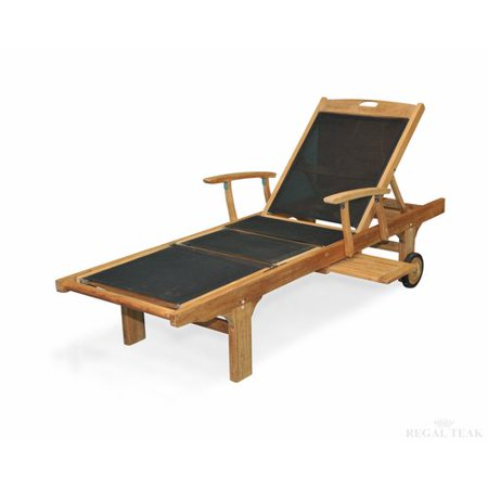 Regal Teak Sling Arm Chaise Lounge Set Of 2 Walmart Com