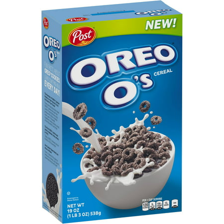 (2 Pack) Post Oreo O's Breakfast Cereal, Oreo Cookie, 19 Oz