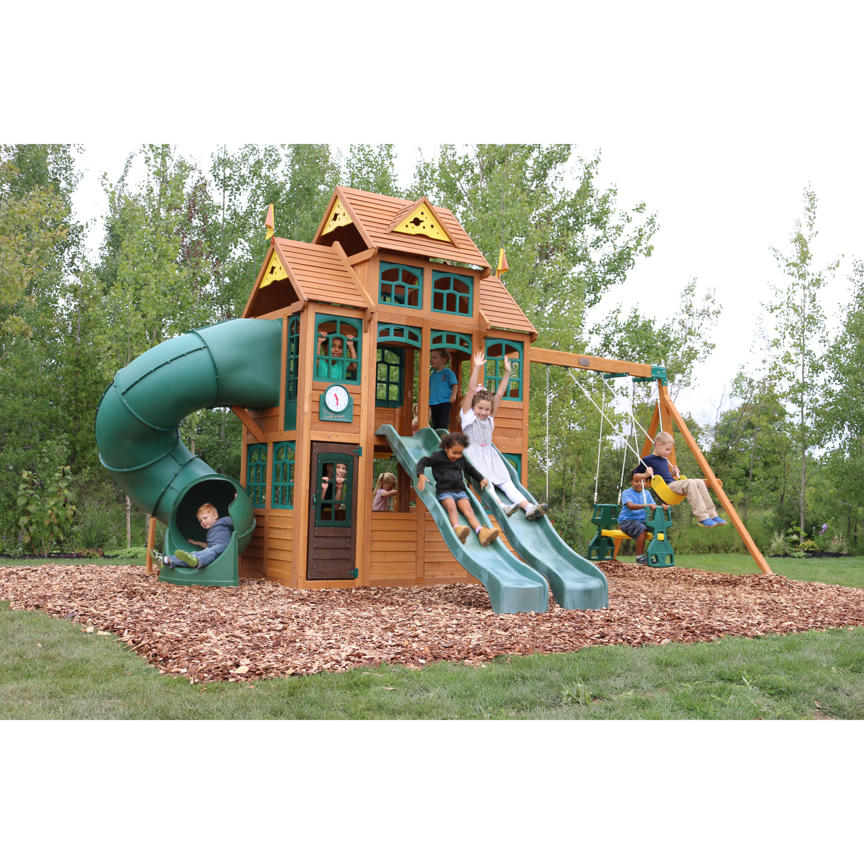 Falcon Ridge Wooden Swing Set By Kidkraft Walmartcom