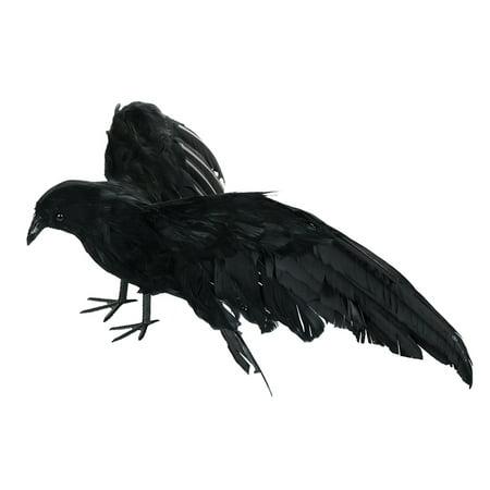 Decoracion De Tortas Para Halloween (Crow Decoration Crow Decoys Halloween Black Feather Raven Large Crow Prop Outdoor Halloween Decor;Crow Decoration Crow Decoys Halloween Raven Large Crow Prop Halloween)