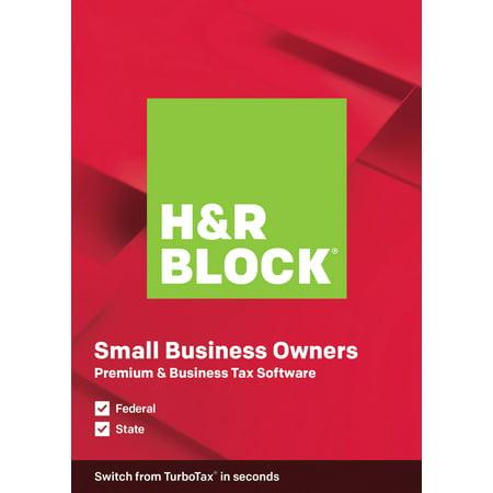 H&R Block Tax Software Premium & Business 2019