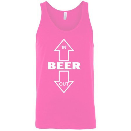 Men's Beer In/Out Alcohol Drink Tank Top Shirt