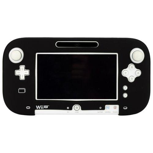 PDP Nintendo Wii U GamePad Silicone Jacket Skin, Black (New Open Box)