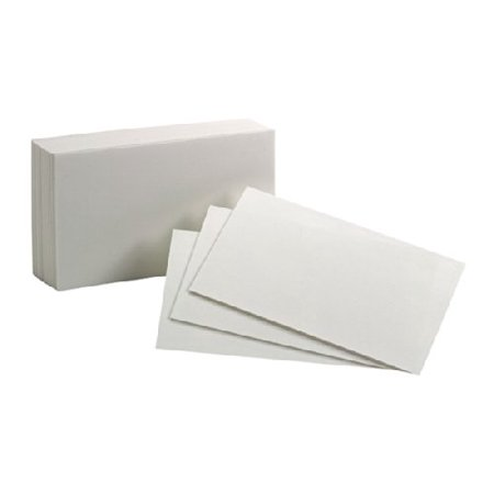 Oxford Blank Index Cards - Plain - 3
